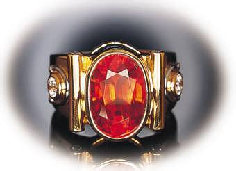 hessonite-herb-ring